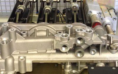 Volvo leak test machine