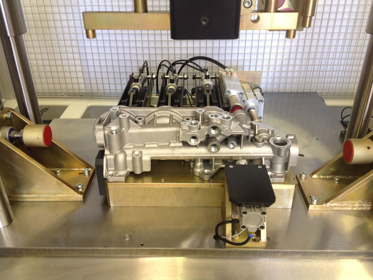 Mahle Volvo leak trst machine designed and built by Interactive Manufacturing ltd.